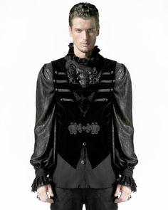 Punk Rave Mens Waistcoat Tailcoat Vest Black Velvet Gothic Victorian Steampunk | eBay