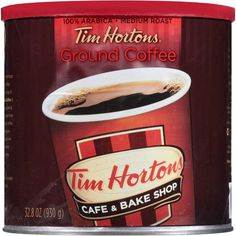 Tim Hortons 100 Arabica Medium Roast Original Blend Ground Coffee 328 Ounce Can >>> Continue to the product at the image link. (This is an affiliate link) Espresso, Tim Hortons Coffee, Blended Coffee Drinks, Single Serve Coffee, Coffee Branding, Great Coffee, Coffee Roasting, Coffee Machine, Drinking Tea