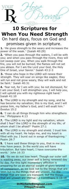 10 Scriptures for when you need Strength!