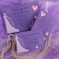 Purple Wedding Invitations