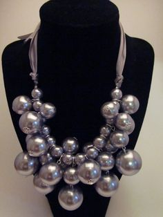 Paisley Perch Boutique   Cluster Pearl Necklace 3 color choices   Online Store Powered by Storenvy