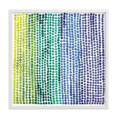 """""""Rainbow Dots - Limited Edition Art Print by Paper Dahlia in beautiful frame options and a variety of sizes. Art Wall Kids, Home Wall Art, Monkey Room, Rainbow Bedroom, Paper Dahlia, Rustic Crafts, Kids Decor, Custom Art, Nursery Art"""