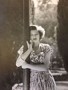 Myrna Loy at home