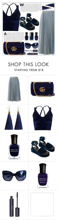 """Miss You..."" by rasa-j ❤ liked on Polyvore featuring MSGM, Gucci, Miss Selfridge, Deborah Lippmann, Christian Dior, Chanel, Dr.Hauschka, Menu and womensFashion"