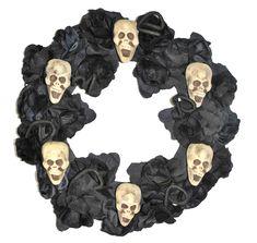 Deko Rose Blume Krallenhand 44 cm schwarz lila Halloween Skelett Hand gruselig