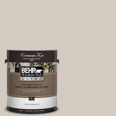 BEHR Premium Plus Ultra1-gal. #N320-2 Toasty Gray Flat Exterior Paint