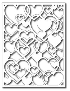 *PRE-ORDER* Frantic Stamper Precision Die - Open Hearts Card Panel,$26.99