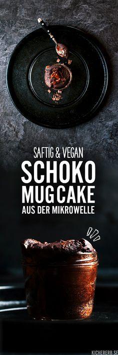Schoko Mug Cake - Tassenkuchen aus der Mikrowelle