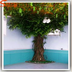 Artificial Greenery Fibergl Ficus Microcarpa Trees Oak Tree Branches For Weddings Decoration View