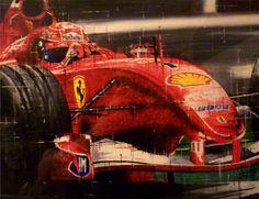 Michael Schumacher. Watercolour/mixed. www.thegalleryofs...