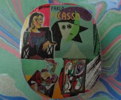 Pablo Picasso Collage Trinket Box by Pepperland