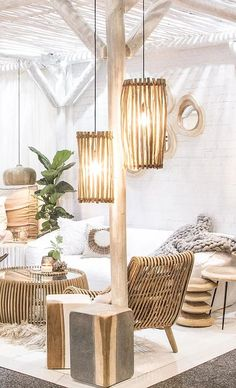 Trend: haal een natuurlijke look in huis met bamboe - Roomed Decor, Furniture, House Design, Beach House Decor, House Interior, Home Deco, Home Interior Design, Interior Design, Furniture Design