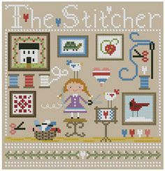 The+Stitcher+Cross+Stitch+Pattern+by+Theflossbox+on+Etsy,+$5.00