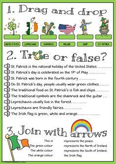 St Patricks Day Pictures, St. Patricks Day, St Patricks Day Crafts For Kids, St Patrick's Day Crafts, St Patricks Day Spiele, Sant Patrick, St Patrick's Day Games, St Patrick Day Activities, I Love School