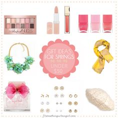 Fashionable gift ideas under 50USD for Spring seasonal color women