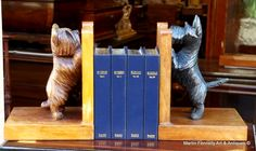 The Cutest Canine Themed Bookends - Westie and Terrier - English Circa - 1920 - The Christmas Present from Heaven for the Westie or Terrier owner - visit the Website for full details on these superbly carved doggie bookends - http://www.fennelly.net/Antiques/Newest%20Listings%20-%20Art%20and%20Antique%20Gallery%20Dublin/037%20The%20Cutest%20Canine%20Themed%20Bookends%20-%20Westie%20and%20Terrier%20-%20English%20Circa%20-%201920.aspx — at Martin Fennelly Antiques.