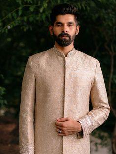 Sherwani For Men Wedding, Wedding Men, Indian Groom, Indian Suits, Groom Wear, Groom Outfit, Khadi Kurta, Nehru Jackets, Embroidered Jacket