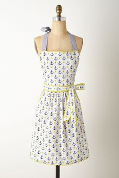 Anchor print apron? Yes please. Perry Harbor Apron - Anthropologie.com