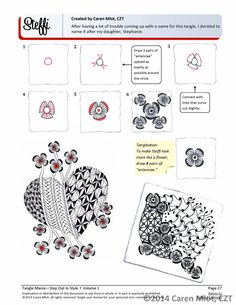 ZENTANGLE PATTERN EBOOK Step Out in Style Volume by TangleMania