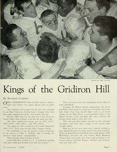 "The Ohio Alumnus, December 1960. ""Kings of the Gridiron Hill."" The 1960 team was the first to win 10 games in one season. :: Ohio University Archives"
