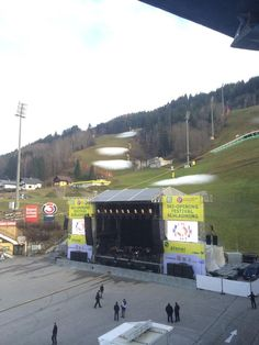 @marlonroudette  Ski-Opening in Schladming, Austria. gorgeous but where's the snow? Some people still don't believe in #globalwarming