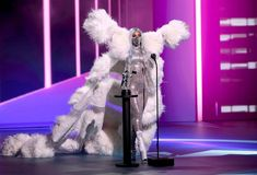 Lady Gaga bags 4 wins at the MTV Video Music Awards 2020 on Monday, August 31, including Artist of the Year and Song of the Year Lady Gaga Looks, Lady Gaga Face, Iris Van Herpen, Mtv Video Music Award, Music Awards, Images Lady Gaga, Ariana Grande, Feather Coat, Sequin Bodysuit