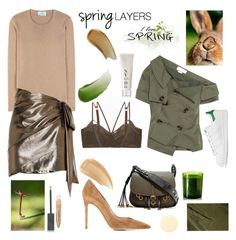 """""""Hello Spring !"""" by sue-mes ❤ liked on Polyvore featuring Prada, Yves Saint Laurent, Gianvito Rossi, Burberry, Monse, Lonely, Lipstick Queen, Diptyque, adidas Originals and Prtty Peaushun"""