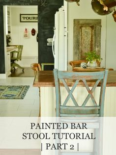 Painted Bar Stool Tutorial (part 2) | www.missmustardseed.com