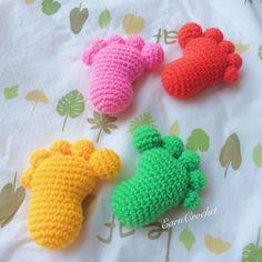 Amigurumi Footprintmini crochet dollkawaii