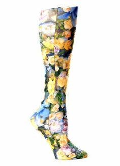 Celeste Stein Therapeutic Compression Socks, Multi Lil Floral, 8-15 mmhg, 1-Pair Celeste Stein,http://www.amazon.com/dp/B00CPO4L72/ref=cm_sw_r_pi_dp_h-4Htb1FWH6NCJT9