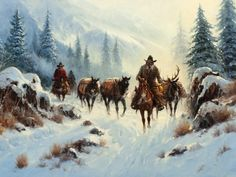 Gerald Harvey Jones 1933   American Western painter