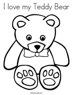 Teddy Bear Coloring Pages For Kids httpprocoloringcomteddy