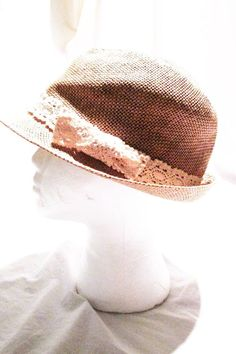 Woven Wicker Summer Fedora Style Womens Hat Brown #Unbranded #Fedora #Casual
