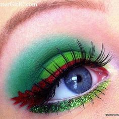 So in love with GlittergirlCs Peter Pan inspired look using #Sugarpill Love+ and Tako. Especially the red liner for the feather in his cap - very cute and clever! #eotd #peterpan #makeupart