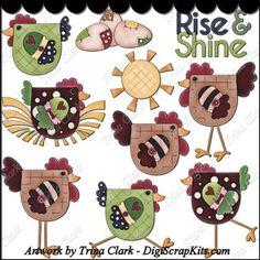 Rise & Shine 1 Clip Art #TrinaClark #DigiScrapKits