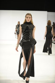 We love all the inspiring styles at this year's Graduate Fashion Show. This dress  designed by Rebecca Elley would be perfect for the Anything Goes or Elegance show on Sunday, 21 of June.  Rebecca Elley SS14 Graduate Collection - Ravensbourne