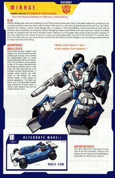 Transformer of the Day: Mirage Gi Joe, Transformers Generation 1, Transformers Cybertron, Karate Kid, Transformers Characters, Optimus Prime, Anime, Comic Books, Comic Art