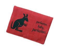 Tabacco pouch smoke pouch roo red by LookBerlin on Etsy