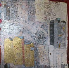 Over Rome - Gemengde techniek op linnen - 140 x 140 cm - 2011