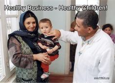 """Happy Friday! We are happy to introduce our caption winner: """"Healthy Business - Healthy Children!  Healthcare emergencies are one of the leading reasons families that climbed out of poverty fall back into it. So FINCA is exploring ways to help our clients create """"rainy day"""" saving funds and access insurance services to protect themselves in the event of serious illness or other calamity."""