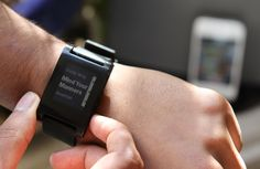 The Pebble: A bluetooth watch that interfaces with your Andriod/iPhone. Happy birthday to me!
