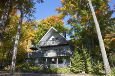Birch Bend Resort Chalet in Fall 2014 Birch, Cabin, House Styles, Fall, Home Decor, Autumn, Homemade Home Decor, Cabins, Cottage