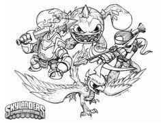 a skylanders coloring page - Skylanders Coloring Pages