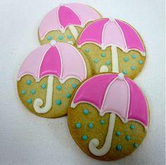 RAINY DAY UMBRELLA Sugar Cookie Party Favors, 1 Dozen by sugarandflour on Etsy https://www.etsy.com/listing/129254094/rainy-day-umbrella-sugar-cookie-party
