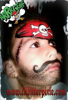 Lil' Bitter Pixie Face Painting (pirate)