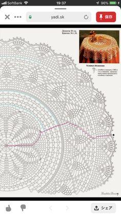Crochet Mat, Crochet Doily Diagram, Crochet Dollies, Crochet Mandala, Crochet Home, Thread Crochet, Crochet Stitches, Crochet Patterns, Mantel Redondo