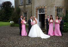 Bridal party outside Ashbrook