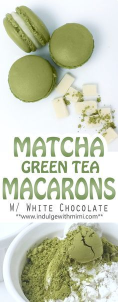 Recipe for Matcha Green Tea INFUSED Macaron Shells with White Chocolate.  Find more relevant stuff: victoriasbestmatchatea.com