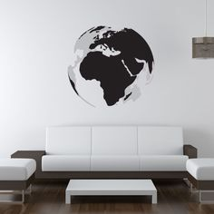 3D Earth Modern Wall Art