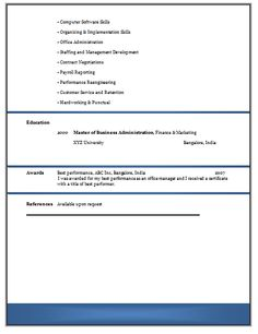 resume format google search gift ideas pinterest simple